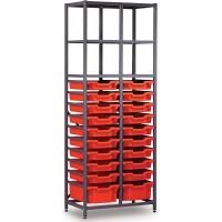 Gratnells 2 Column High 20 Tray Storage Rack