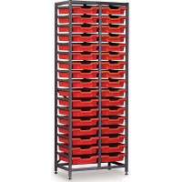 Gratnells 2 Column High 34 Tray Storage Rack