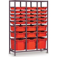 Gratnells 3 Column Midi 24 Tray Storage Rack