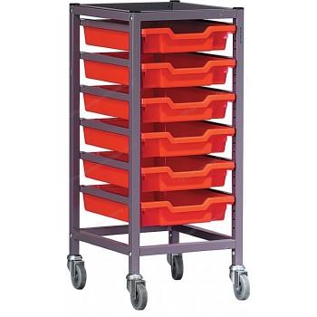 Gratnells Single Column 6 Tray Storage Trolley