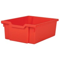 Gratnells Plastic Deep Tray 150h x 312w x 427d mm Red