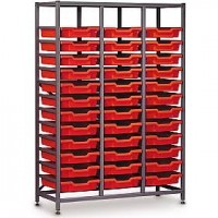 Gratnells 3 Column Midi 36 Tray Storage Rack