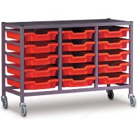 Gratnells Triple Column 15 Tray Storage Trolley