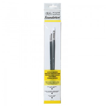 Winsor & Newton Acrylic Foundation Brush set 5