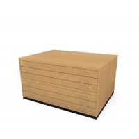 A0 6 Drawer Traditional Wooden Plan Chest