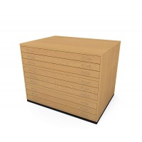 A0 9 Drawer Traditional Wooden Plan Chest