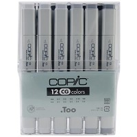 COPIC Marker 12pc Cool Grey