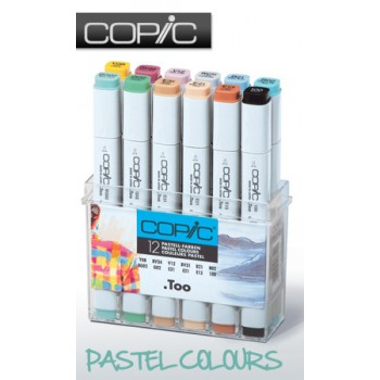 COPIC Marker 12 Piece  Pastel Colours