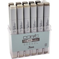 COPIC 12pc Warm Grey Set