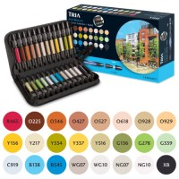 Tria Marker 24 Pen Set - Visualisation