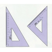 Helix Set Squares 26cm 45 Degree Set Square