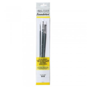 Winsor & Newton Acrylic Foundation Brush set 4