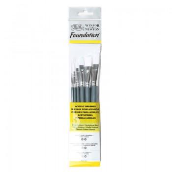 Winsor & Newton Acrylic Foundation Brush set 7