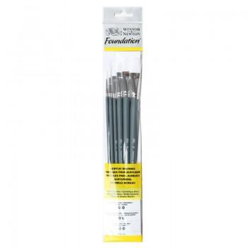 Winsor & Newton Acrylic Foundation Brush set 8
