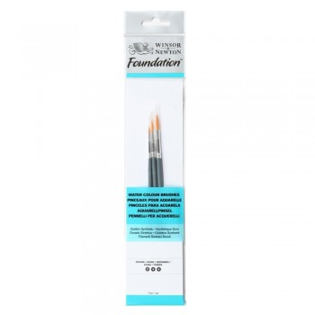 Winsor & Newton Water colour Foundation Brush set 10
