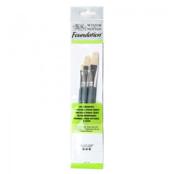 Winsor & Newton Oil Colour Foundation Brush set 20