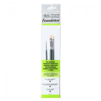 Winsor & Newton Oil Colour Foundation Brush set 21
