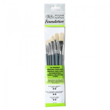 Winsor & Newton Oil Colour Foundation Brush set 25